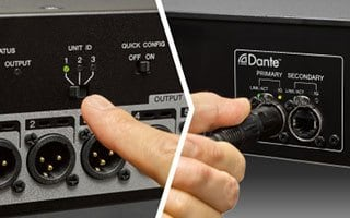 Solução Dante Plug & Play para Stagebox TIO 1608-D