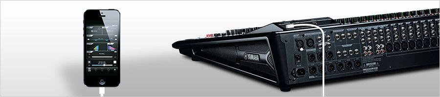Mesa de Som 24 entradas MGP24X Yamaha com usb