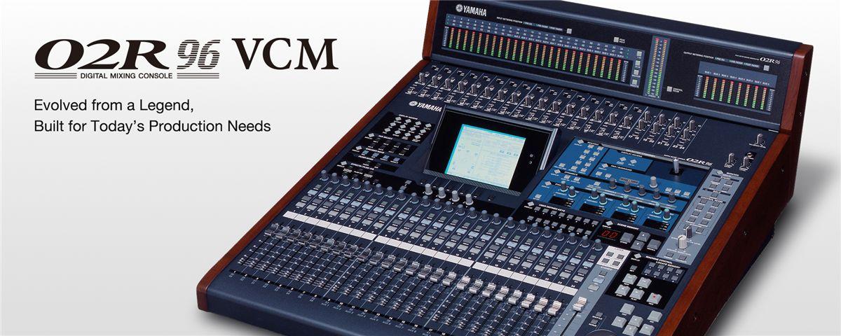 02R96VCM - Características - Mixers - Áudio Profissional - Produtos