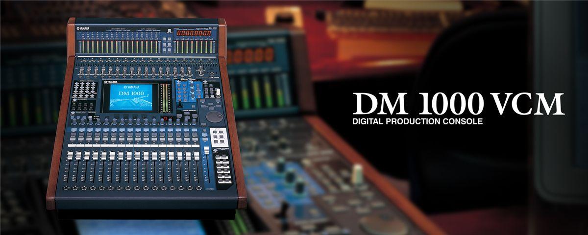 DM1000VCM - Características - Mixers - Áudio Profissional - Produtos